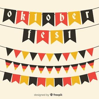 Verzameling van oktoberfest slingers