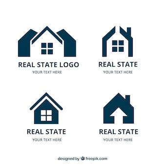 Verzameling van onroerend goed logo's