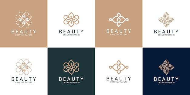 Verzameling van ornament logo-ontwerp