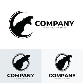 Verzameling van panter brullende logo-ontwerpinspiratie