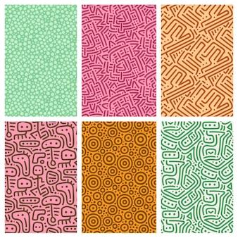 Verzameling van patronen met afgeronde lijnen