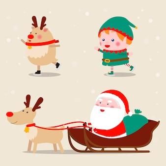 Verzameling van pictogrammen met kerstthema
