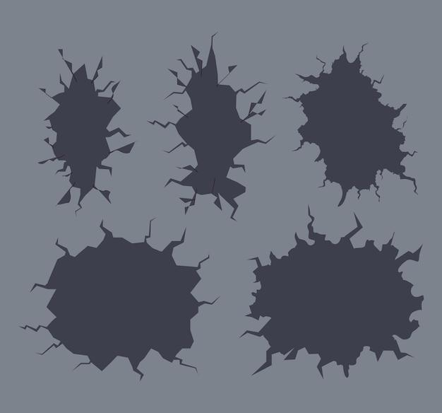 Verzameling van pictogrammen scheuren