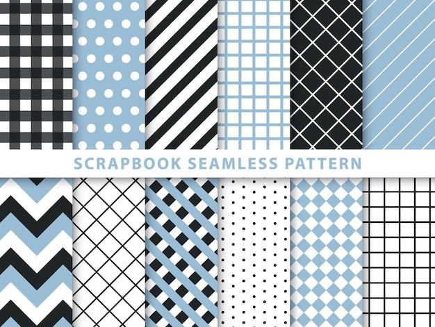Verzameling van plakboek naadloos patroon