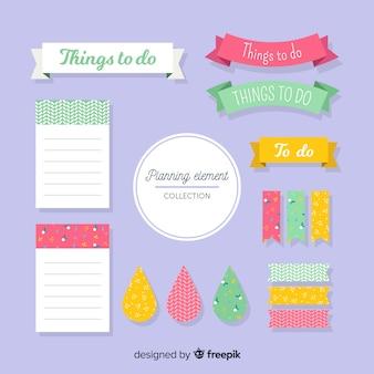 Verzameling van planningselementen