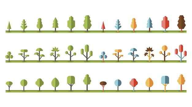 Verzameling van planten en boomvectoren