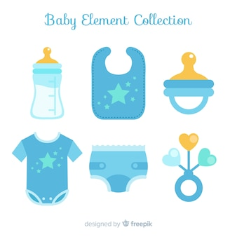 Verzameling van platte babyelementen