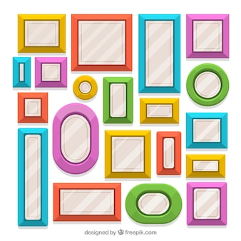 Verzameling van platte frames