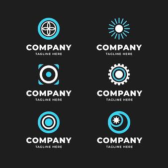 Verzameling van platte o logo sjablonen