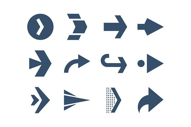 Verzameling van platte pijlen