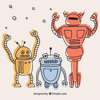 Verzameling van platte robots