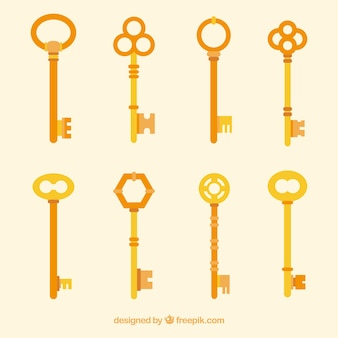 Verzameling van platte sleutels