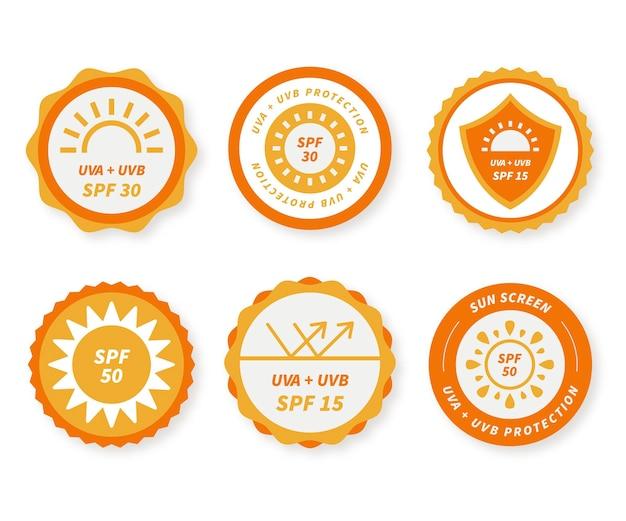 Verzameling van platte uv-badges