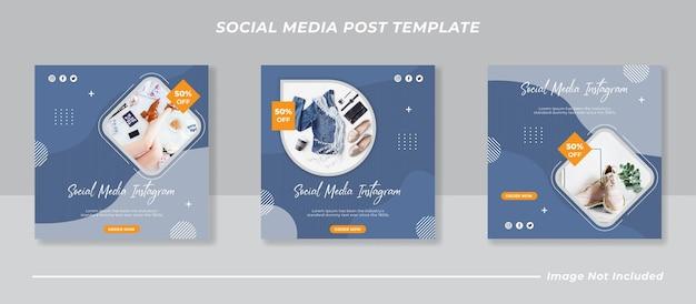 Verzameling van postsjabloon voor sociale media