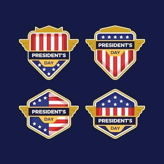 Verzameling van president-dag labels