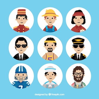 Verzameling van professionele werknemers avatars