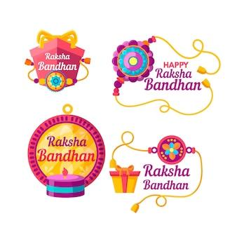 Verzameling van raksha bandhan badges