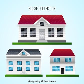 Verzameling van realistische huizen