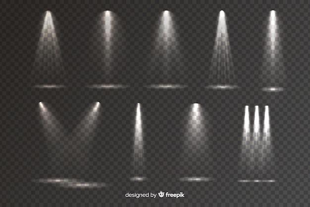 Verzameling van realistische scène verlichting