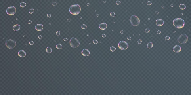 Verzameling van realistische zeepbellen