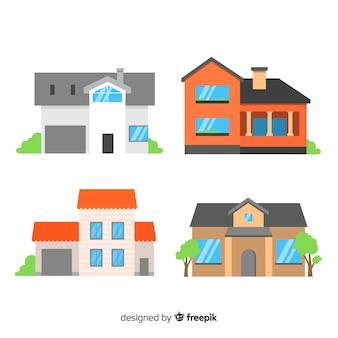 Verzameling van residentiële huizen