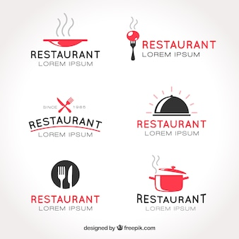 Verzameling van restaurantlogo's
