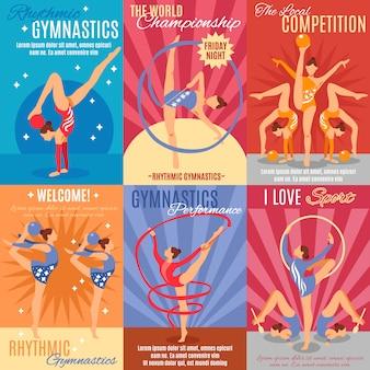 Verzameling van ritmische gymnastiek posters