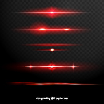 Verzameling van rode lens flare verdelers