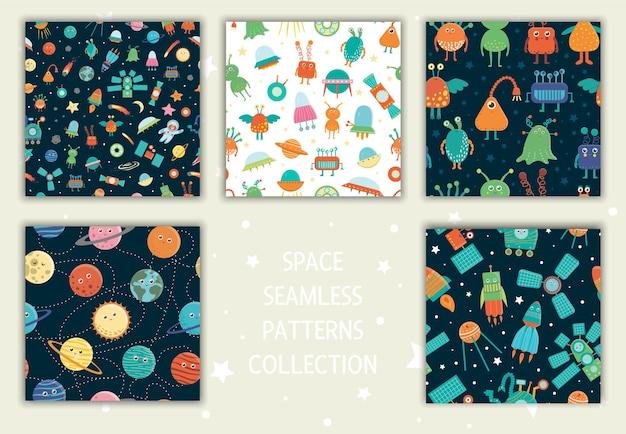 Verzameling van ruimte naadloze patronen