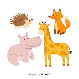 Verzameling van schattige wilde dieren