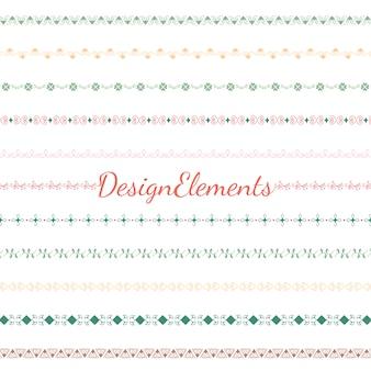Verzameling van scheidingslijn ontwerp element vectoren