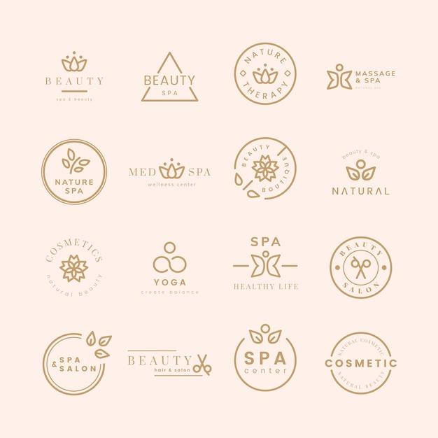 Verzameling van schoonheid en spa-logo's