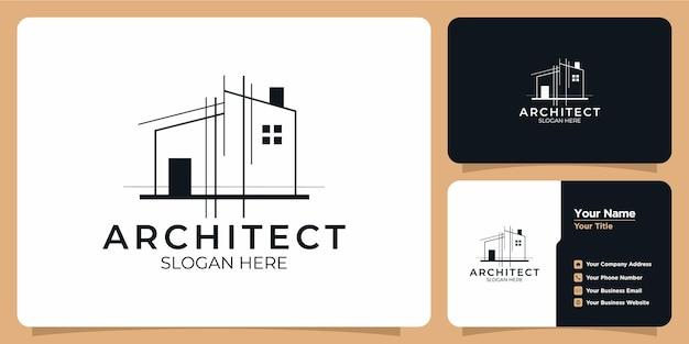 Verzameling van sjablonen voor het bouwen van logo's en visitekaartjes