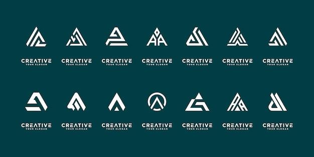 Verzameling van sjablonen voor logo-ontwerp