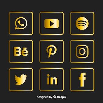 Verzameling van social media-logo's