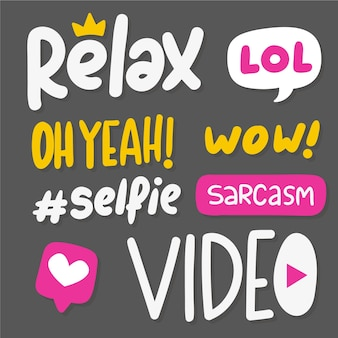 Verzameling van social media stickers