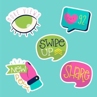 Verzameling van sociale media-elementen