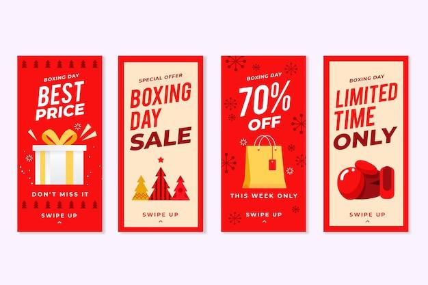Verzameling van sociale media-verhalen op tweede kerstdag