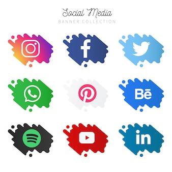 Verzameling van sociale mediabanners