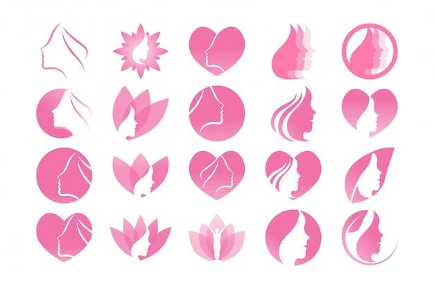 Verzameling van spa esthetische grafische sjabloon