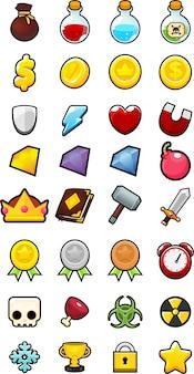 Verzameling van spel iconen