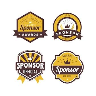 Verzameling van sponsorbadges