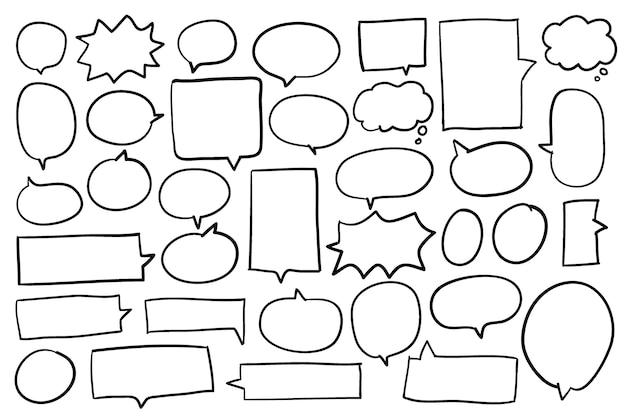 Verzameling van spraak bubbels vector