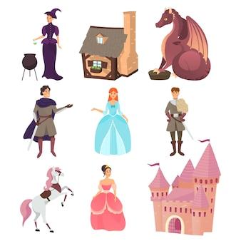 Verzameling van sprookjesfiguren