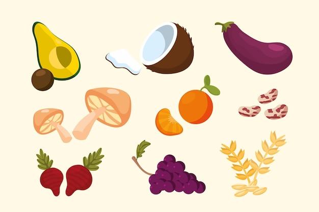 Verzameling van superfood
