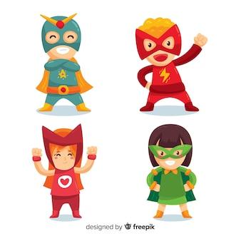 Verzameling van superheld kinderen