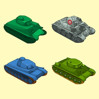 Verzameling van tanks
