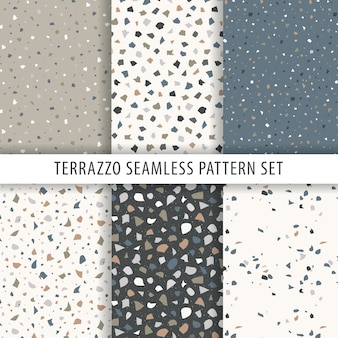 Verzameling van terrazzo patroon
