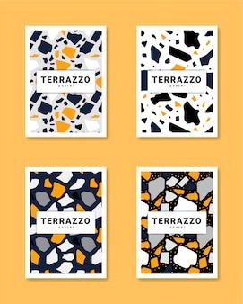 Verzameling van terrazzo poster vector