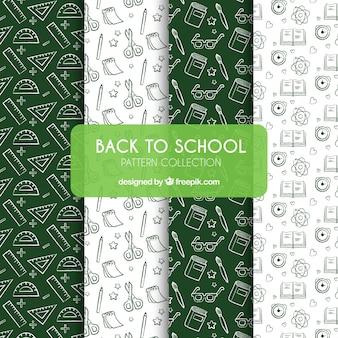 Verzameling van terug naar school patronen